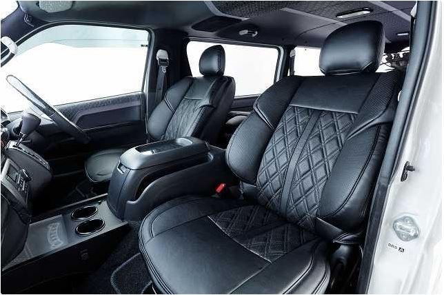 Hearts(ハーツ) 3Dバケットシートカバー ブラック 【200系ハイエース1~4型標準・ワイド共通】フロントのみ
