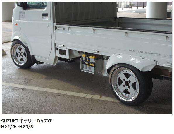 OVER TECH(オーバーテック) オーバーフェンダーキット未塗装 キャリーDA63T【H24/5~H25/8】