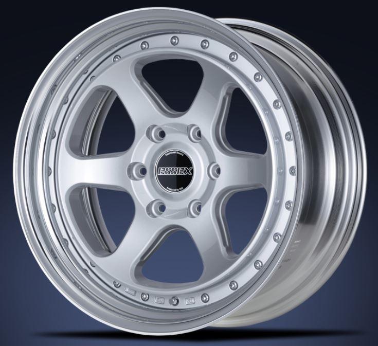ESSEX(エセックス) タイプEL 2P シルバー 19インチ 【厳選輸入225/40R19ホイールタイヤセット】 200系ハイエースに最適〈タイヤ銘柄選べます!〉