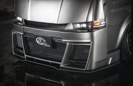 クールレーシング(KUHL) 200V-GT フロントディフューザー未塗装 200系ハイエース1~4型【標準ボディ】
