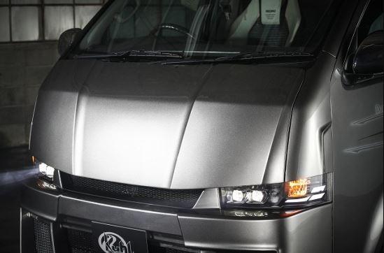 クールレーシング(KUHL) 200V-GT レーシングボンネット未塗装 200系ハイエース1~4型【標準ボディ】