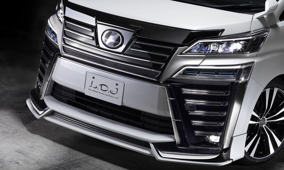 LDJデザイン(j-auto) LDJ魔裟斗モデル フロントグリル未塗装 30系ヴェルファイア【後期】