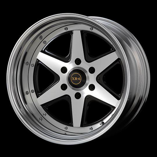 ファブレス ヴァローネXR-6(2P) ブラックポリッシュ 19インチ 【厳選輸入225/40R19ホイールタイヤセット】 200系ハイエースに最適〈タイヤ銘柄選べます!〉
