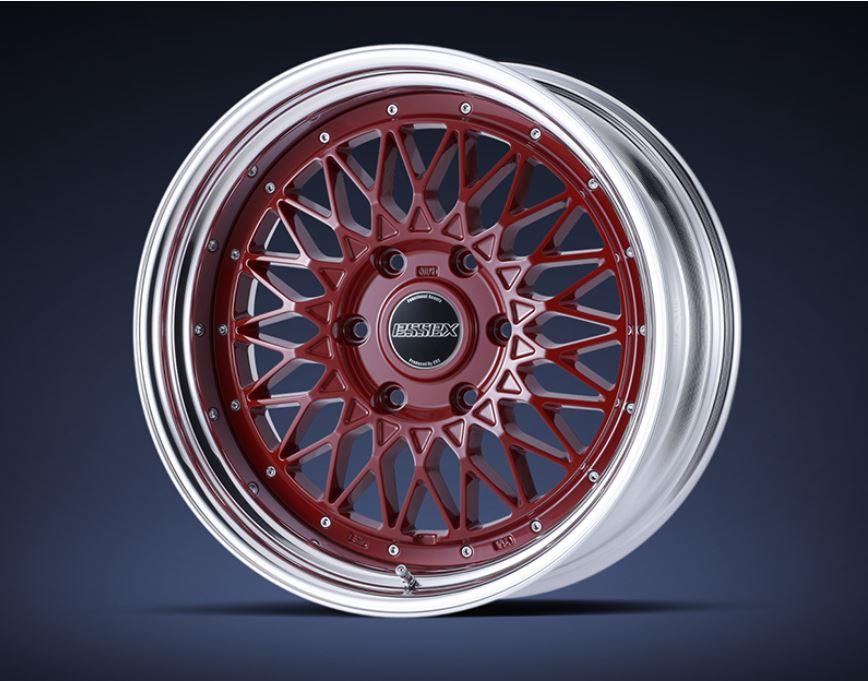 ESSEX(エセックス) ENCM(2P) レッド 17インチ 【厳選輸入215/60R17ホイールタイヤセット】 200系ハイエースに最適〈タイヤ銘柄選べます!〉