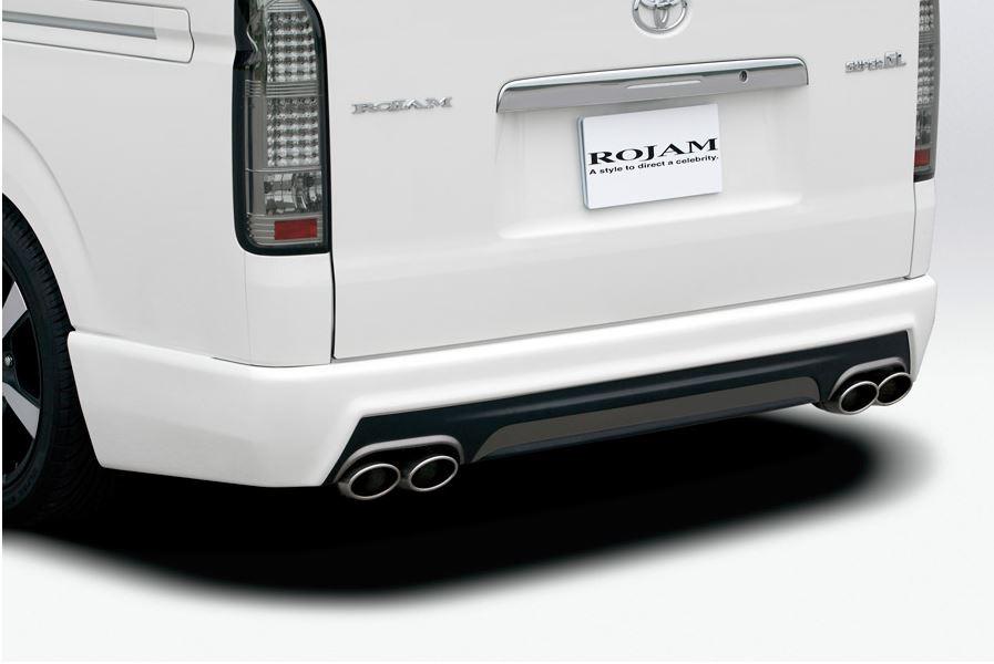 ロジャム(ROJAM) リアバンパースポイラー未塗装 200系ハイエース【標準ボディ】