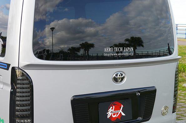 乱人(エアロテックジャパン) リアゲートスポイラー 未塗装 200系ハイエース【4型標準ボディ】