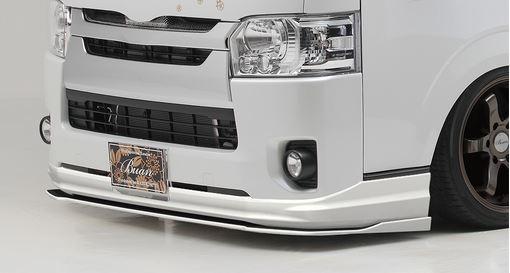 舞杏/ぶあん(カズキオート) スポーツスタイル SSフロントカナード 200系ハイエース4型・5型標準ボディ【塗装済も選択できます】