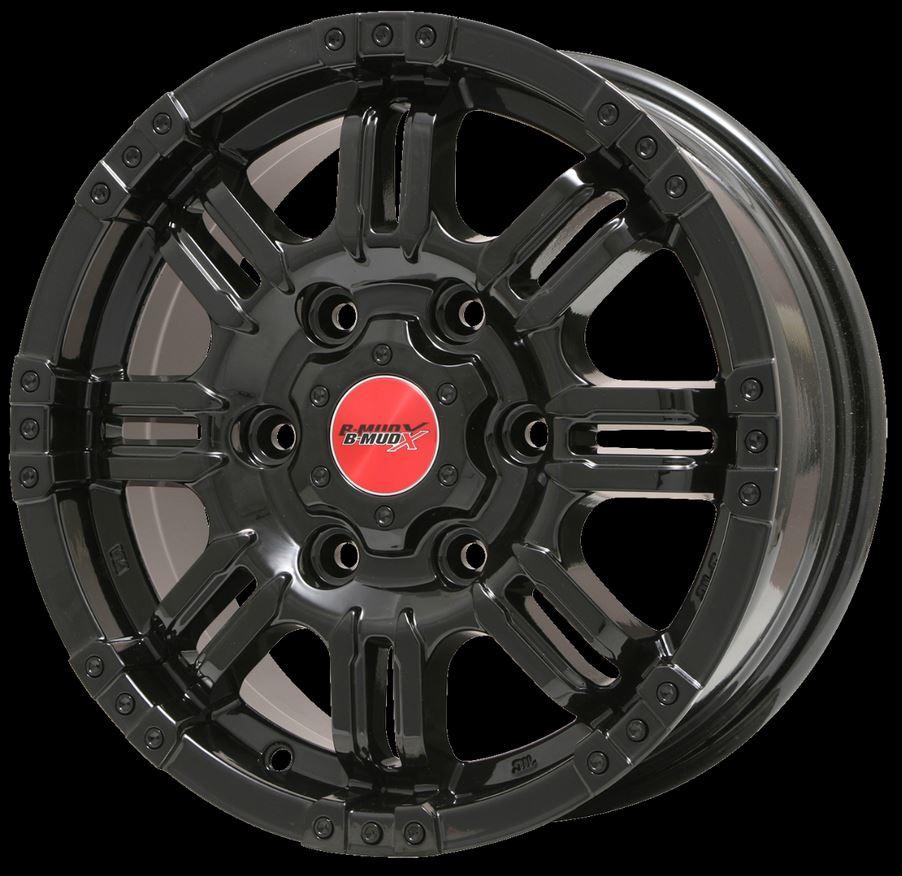 ビッグウェイ(BIGWAY) ビーマッドX グロスブラック 17インチ 【厳選輸入215/60R17タイヤセット】 200系ハイエースに最適〈タイヤ銘柄選べます!〉