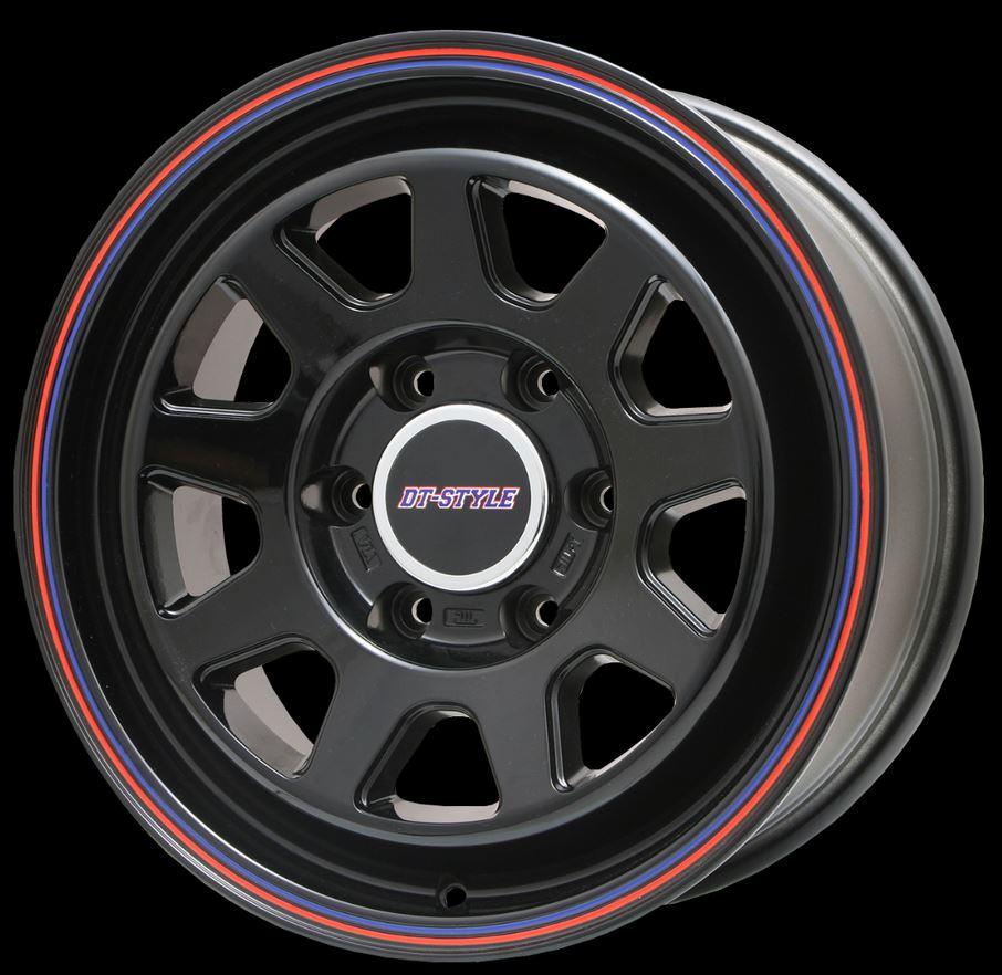 ビッグウェイ(BIGWAY) DTスタイル グロスブラック 17インチ 【厳選輸入215/60R17ホイールタイヤセット】 200系ハイエースに最適〈タイヤ銘柄選べます!〉