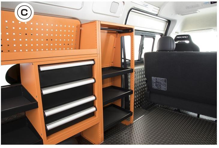 ユーアイビークル(UI-Vehicle) マルチシステムラックC 200系ハイエース専用設計