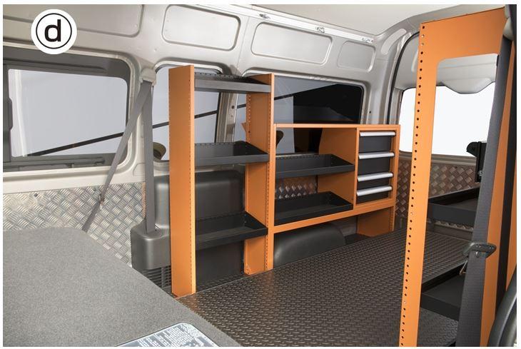 ユーアイビークル(UI-Vehicle) マルチシステムラックD 200系ハイエース専用設計
