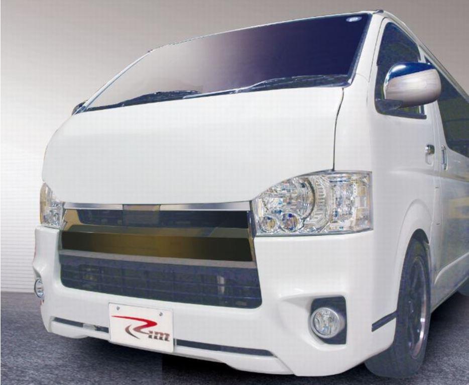 リムコーポレーション(Rim) グランドコンセプション 【BADエンジンフード】エアロボンネット 200系ハイエース1~5型標準/ワイドボディ