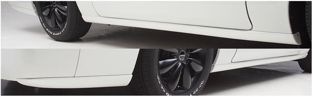 ボクシースタイル(BOXYSTYLE) サイドスポイラー未塗装 NV350キャラバン標準ボディ【5ドア・ロング用】