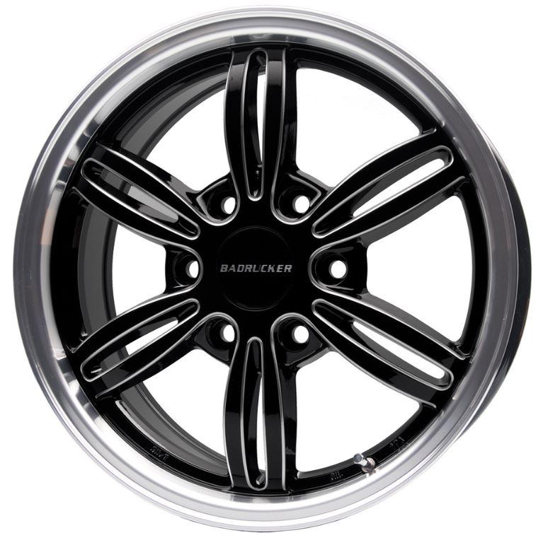 415コブラ バッドラッカー4 ブラック 20インチ 【厳選輸入225/35R20セット】 200系ハイエースに最適〈タイヤ銘柄選べます!〉 鍛造ナット無料サービス