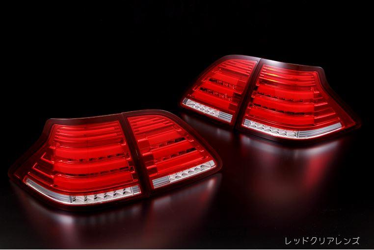 [流星バージョン]180系 クラウン 3Dライトバー仕様 オールLEDテールランプ【レッドクリア】 レヴィーア(Revier)