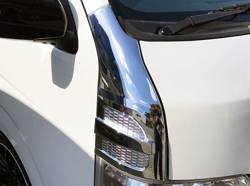 コーナーパネルカバーT-2 お得セット 新商品 ABS製クロームメッキ 200系ハイエース ヴォーグ VOGUE セカンドハウス