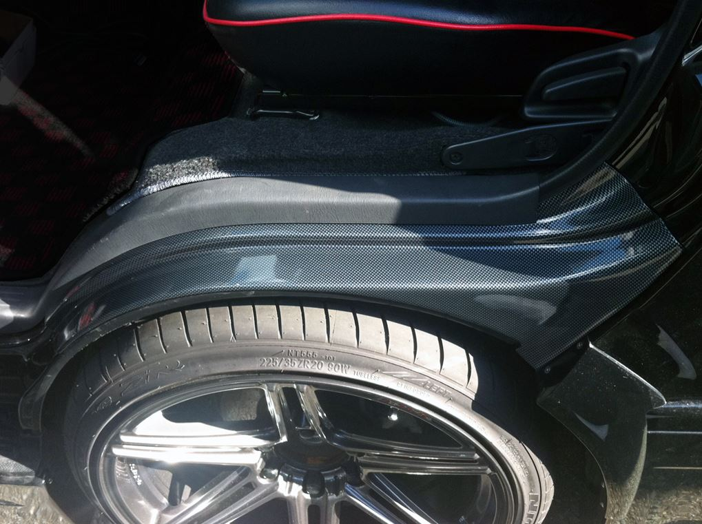 タイヤハウスカバー カーボンルックブラック 買取 200系ハイエース セカンドハウス ヴォーグ VOGUE 超激得SALE