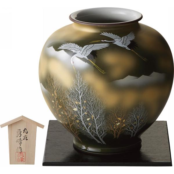 九谷焼 金箔木立鶴 10号花瓶 130903【16日9:59までポイント10倍】