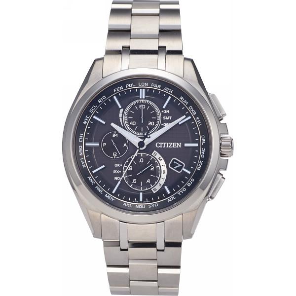 シチズン アテッサ ダイレクトフライト メンズ電波腕時計 ブラック AT8040-57E【16日9:59までポイント10倍】