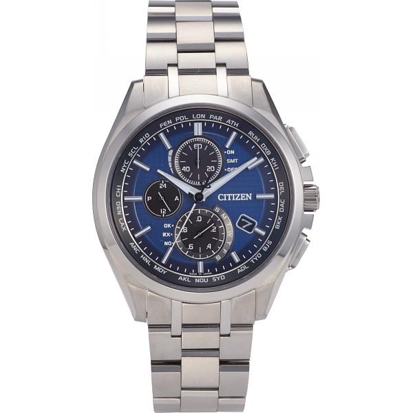 シチズン アテッサ ダイレクトフライト メンズ電波腕時計 ブルー AT8040-57L【16日9:59までポイント10倍】