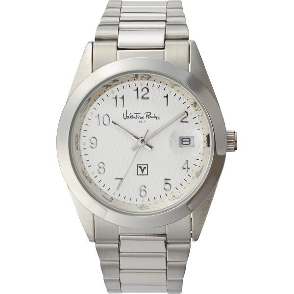 ヴァレンチノ・ルウディ メンズ腕時計 ホワイト VR-100M【16日9:59までポイント10倍】