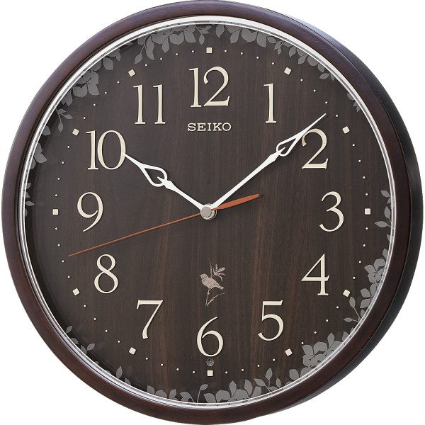 セイコー 報時電波掛時計 濃茶 RX215B【16日9:59までポイント10倍】