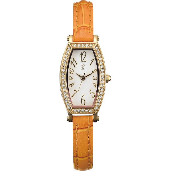 ロベルタ スワロフスキー 腕時計 オレンジ RC0817-05OR【16日9:59までポイント10倍】
