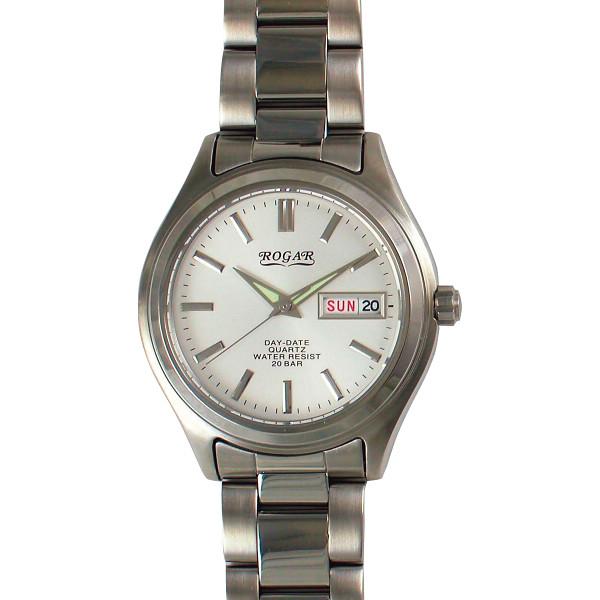 ロガール メンズ腕時計 ホワイト RO-026M-WH【16日9:59までポイント10倍】