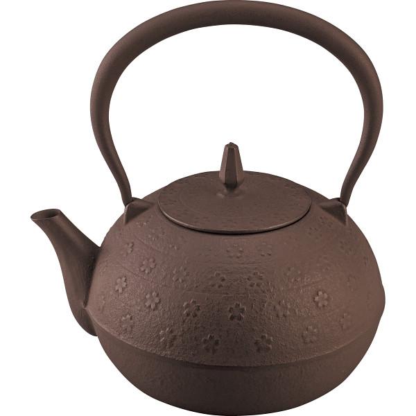 南部鉄器 鉄瓶sakura(1.2l) 茶 12607【26日9:59までポイント10倍】