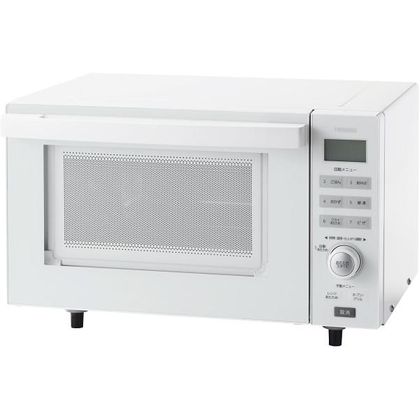ツインバード センサー付フラットオーブンレンジ(18L) DR-E852W【2日9:59までポイント10倍】
