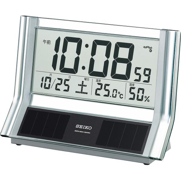 セイコー 電波ソーラーデジタル置時計 SQ690S