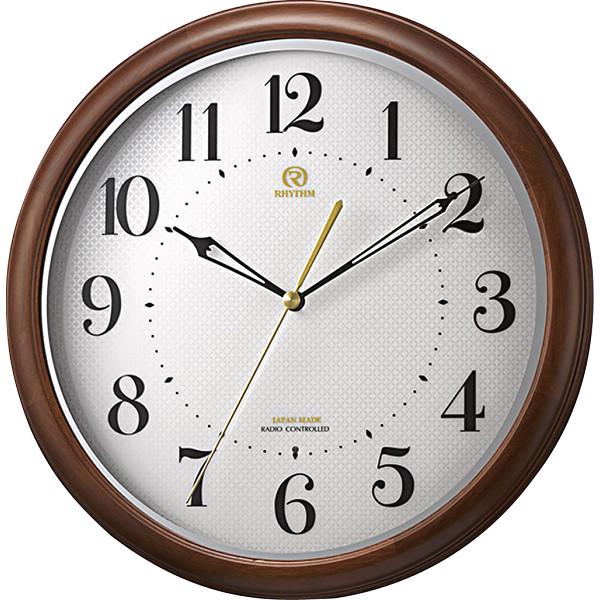 リズム 木枠電波掛時計 8MY524HG06【16日9:59までポイント10倍】