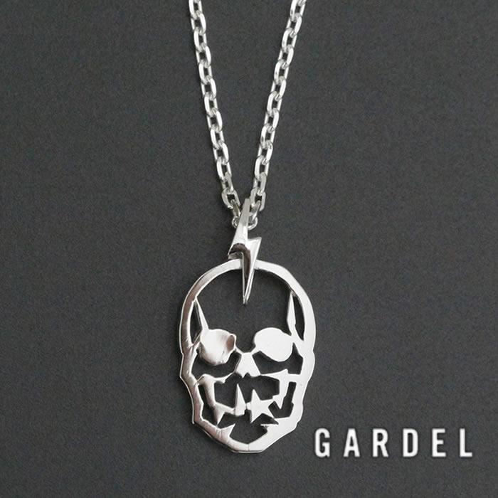 GARDEL ガーデル 公式通販,GLITTER SKULL PENDANT CHAIN SET グリッタースカルネックレス SILVER 公式通販