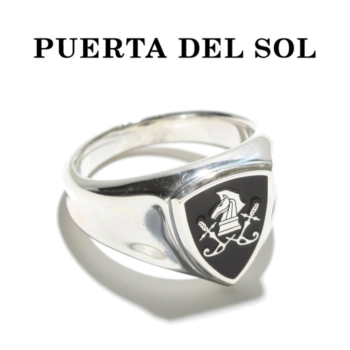 PUERTA DEL SOL プエルタデルソル Chess Knight Large Emblem Ring チェスナイト ラージ エンブレム リング SILVER シルバー