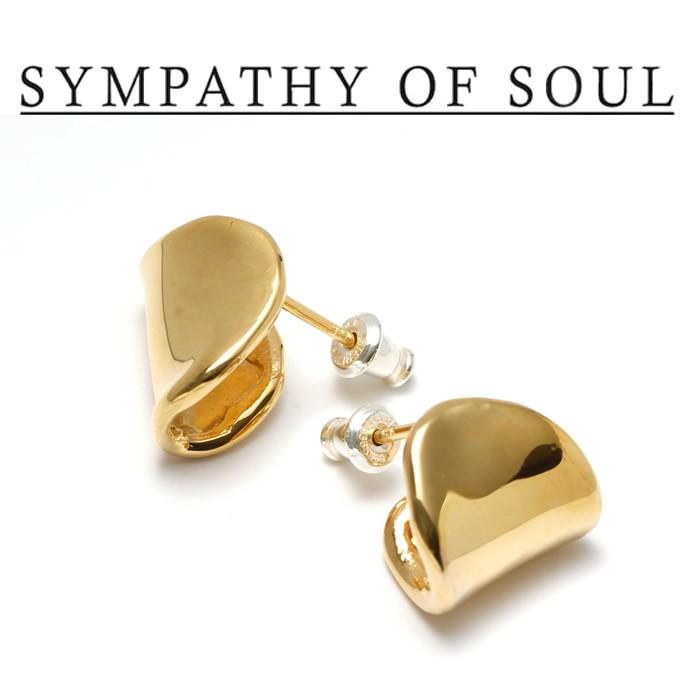 SYMPATHY OF SOUL Style レディース シンパシーオブソウル スタイル Melt Pierce BRASS GOLD メルト ピアス 真鍮 ゴールドコーティング 【正規商品 公式通販】