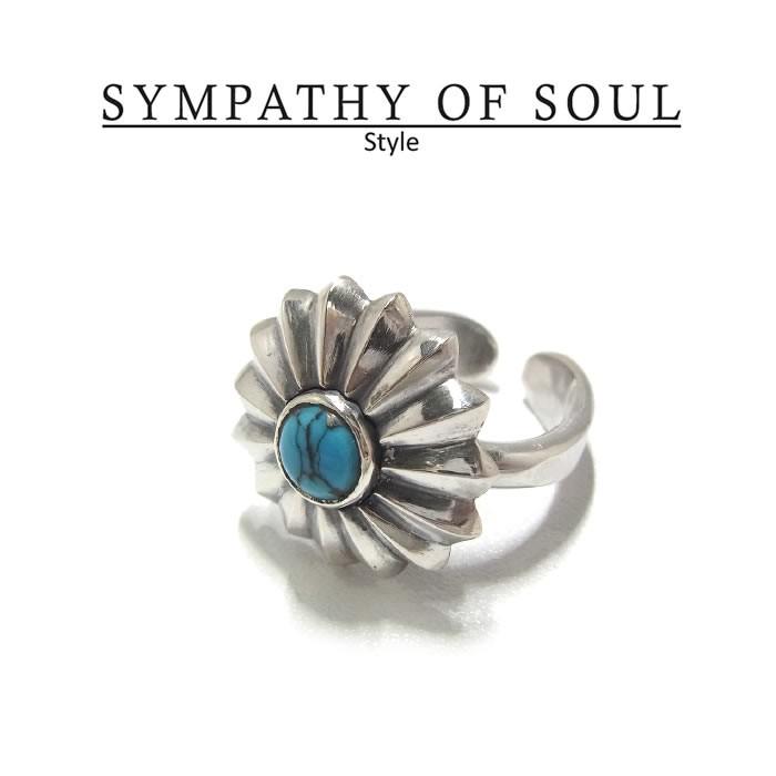 一部予約 レディースSYMPATHY 無料 OF SOUL Style 正規商品 公式通販 SYMPATHY レディース シンパシーオブソウル ターコイズコンチョ SILVER Turquoise Concho リング Ring HM スタイル