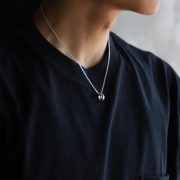 スーマンダックワ ネックレス Suman Dhakhwa エターナル カービング リング ネックレス シルバー K10 Eternal Carving Ring Necklace Silver K10YGkX8nPwO0