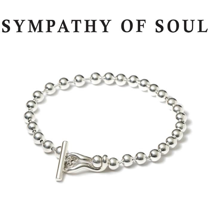 シンパシーオブソウル ブレスレット シルバー メンズ レディース センス オーシャンズ SYMPATHY OF SOUL Ball Chain T-Bar Bracelet SILVER 雑誌掲載 男女兼用 【正規商品 公式通販】