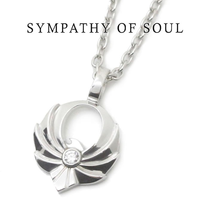 SYMPATHY OF SOUL Symbolic Eagle Pendant Small Silver CZ シンボリックイーグルペンダント スモール ジルコニア チェーンセット ネックレス シルバー 【正規商品 公式通販】