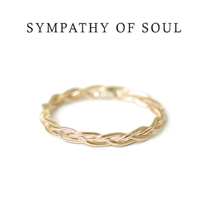 シンパシーオブソウル リング,SYMPATHY OF SOUL リング, Woven Ring - L,K10Yellow Gold,ウーヴンリング - L, K10イエローゴールド ,通販,取扱い 【正規商品 公式通販】