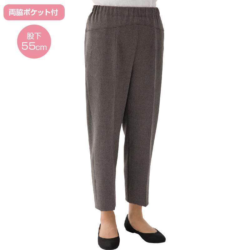 与え 片手で履けるウエストゴム 大きいサイズのシニアズボン Cラインパンツ 日本製 年間素材 シニアファッション 機能サポート M~3Lサイズ 婦人 介護用品 ズボン 介護 女性用 高齢者 シニア 衣料 介護衣料 引き出物 介護用