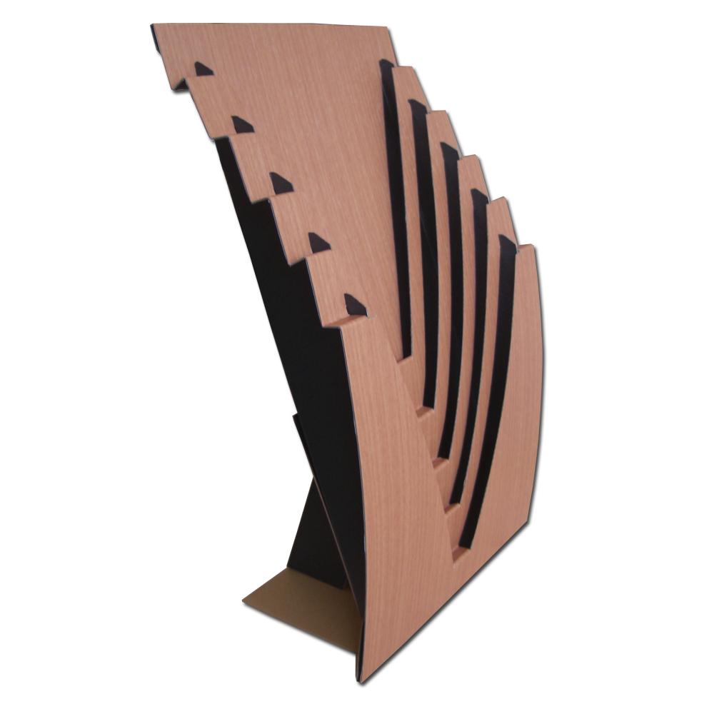 壁に掛けても床に置いても便利な5段ポケットのA4ラックです ファクトリーアウトレット 高級な 防汚フィルム貼りのハイグレードな木目調ラックです ※定形外郵便にて送料無料 組み立て式ジャバラック据置タイプ.ハンガーラック壁掛けタイプA4 5段ハイグレード木目.汚れ防止