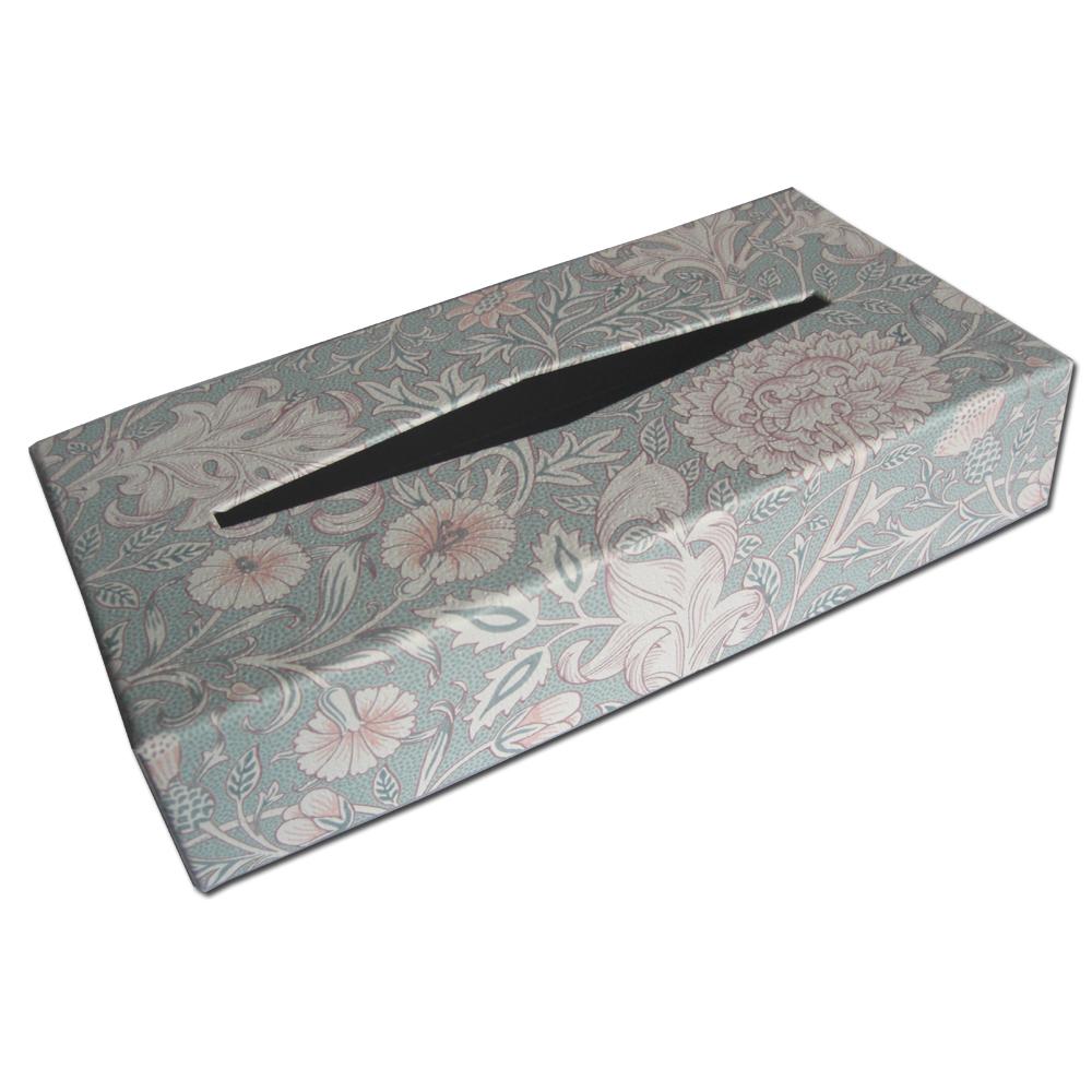 ウィリアムモリスデザインのティッシュボックスです 2020春夏新作 お気に入 オシャレなインテリア小物としてご活用いただけます ウィリアムモリス.オリジナルティッシュボックス.ダブルボウ ライトピンク