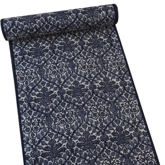【オフィストリエ】長板染め浴衣反物 ネイビー 日本製[藍 お仕立て]