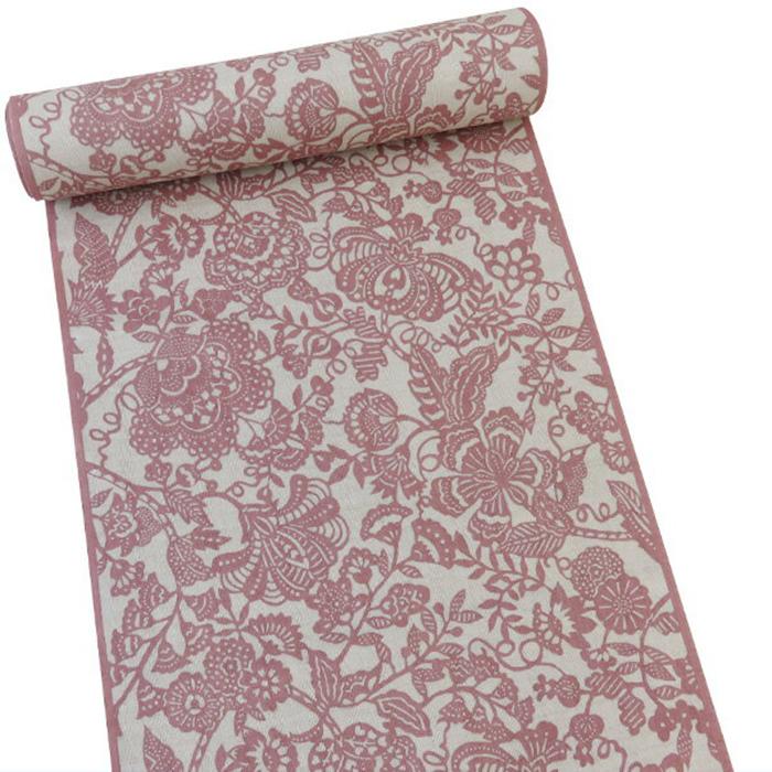 【オフィストリエ】長板染め浴衣反物 ピンク 日本製[桜色 赤 お仕立て]