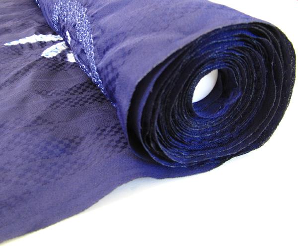 【嵐山よしむら】浴衣 反物 絞りトンボ(夏物) 紫×トンボ