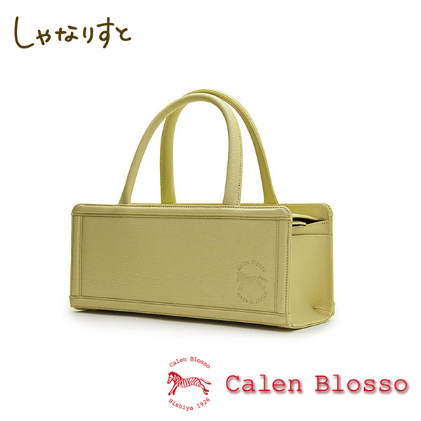 【Calen Blosso】菱屋 カレンブロッソ 本革バッグシリーズ ハンドバッグ 箱バッグ No.672 [萌葱] 日本製