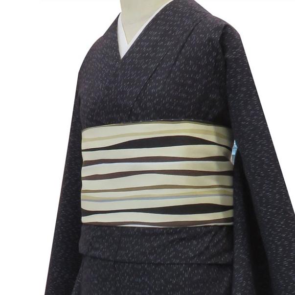 【粋夢】お仕立上がり着物 かすり/濃紺(単衣)[きもの 木綿 カジュアル ]