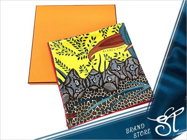 ■エルメス■HERMES■カレ90 FLOWERS OF SOUTH AFRICA シルク100% スカーフ【未使用新品】