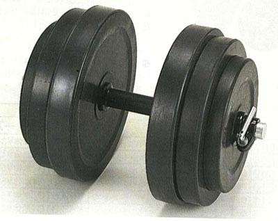 【ラバーダンベルセット】DANNNO ラバーダンベル30kgセット (片手のみ)